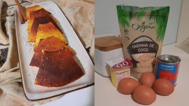 Preparação do bolo de iogurte saudável