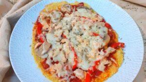 Pizza Saudável de Tapioca e Salmão